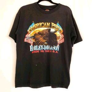 Vintage Seattle Harley Davidson Eagle T-Shirt